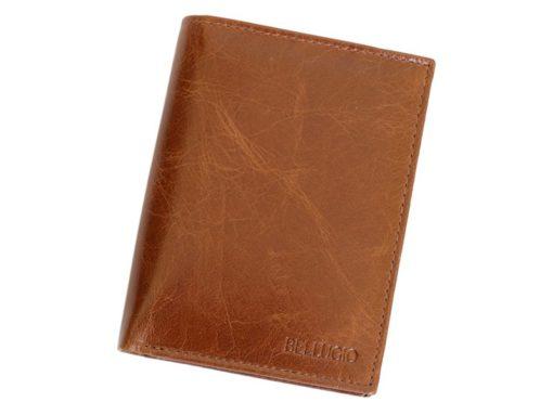 Bellugio Man Leather Wallet Dark Brown-6627