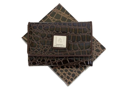 Pierre Cardin Women Leather Purse Medium Size Beige-6162