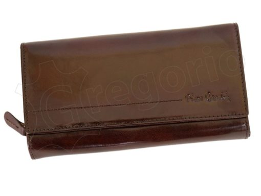 Pierre Cardin Women Leather Wallet/Purse Dark Red-6004