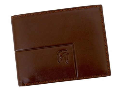 Gai Mattiolo Man Leather Wallet with coin pocket Brown-6389