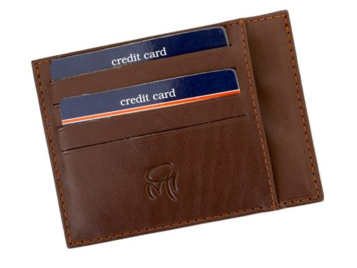 Gai Mattiolo Credit Card Holder Brown-4290