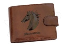 Pierre Cardin Man Leather Wallet with horse Brown-5201