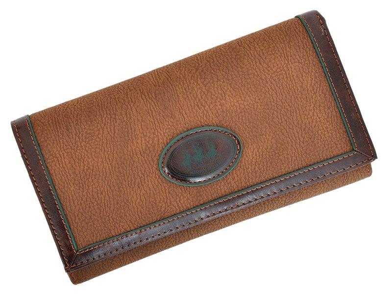 Harvey Miller Polo Club Women Leather Wallet/Purse Brown-5347