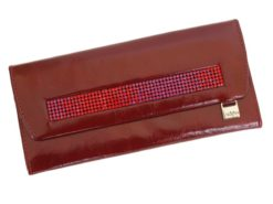 Giovani Woman Leather Wallet Swarovski Line Grey-4434