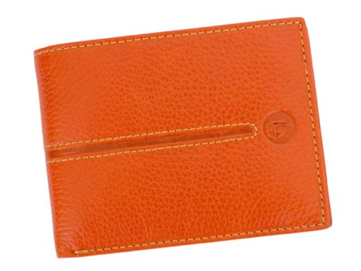 Gai Mattiolo Man Leather Wallet Orange-6582