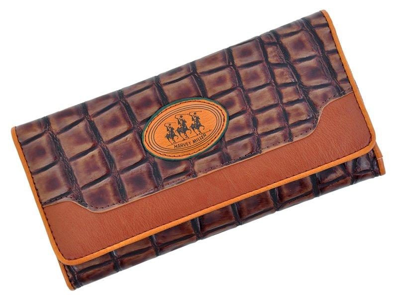 Harvey Miller Polo Club Women Leather Wallet Brwon-5337