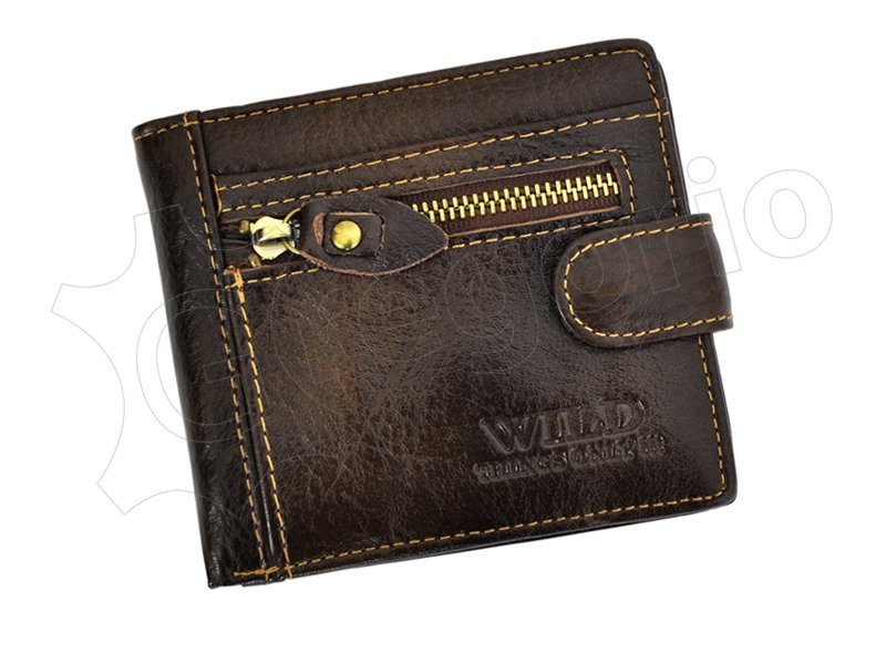 Wild Things Only Unique Leather Wallet Black-4362