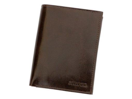 Bellugio Man Leather Wallet Dark Brown-6624