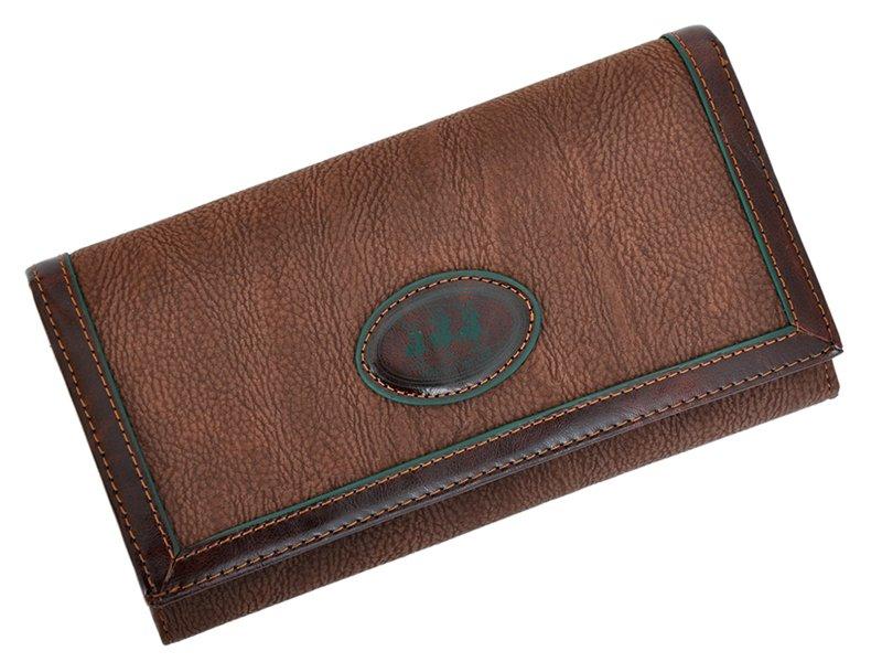 Harvey Miller Polo Club Women Leather Wallet/Purse Green-5361
