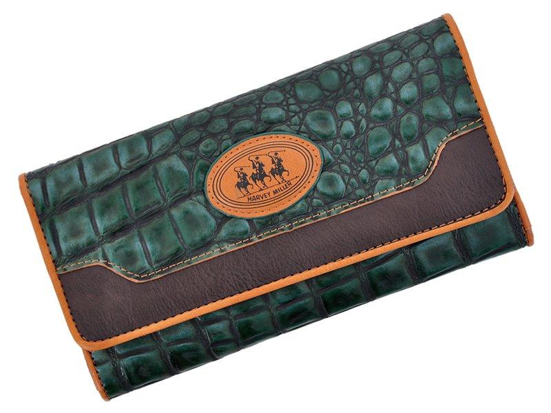 Harvey Miller Polo Club Women Leather Wallet Brwon-5336