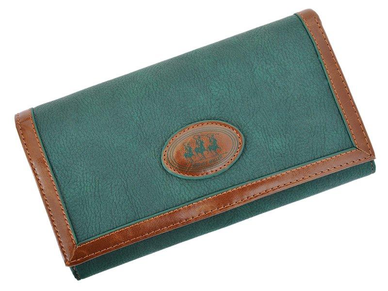 Harvey Miller Polo Club Women Leather Wallet/Purse Green-5355