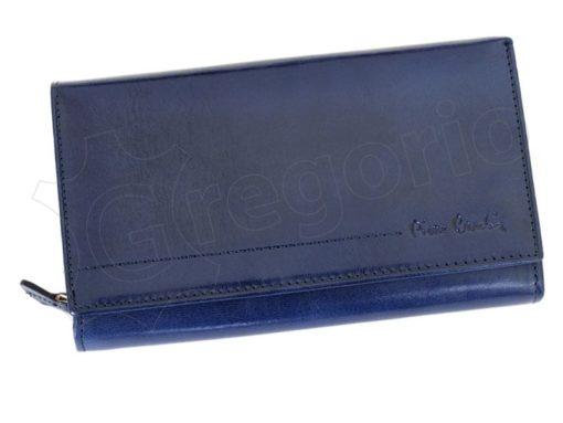 Pierre Cardin Women Leather Purse Blue-5992