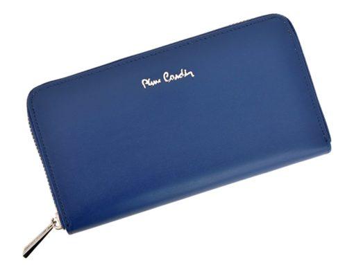 Pierre Cardin Women Leather Wallet with Zip Violet-5093