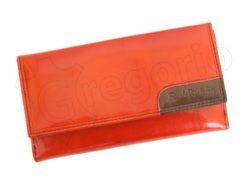 Renato Balestra Leather Women Purse/Wallet Orange Dark Brown-5591