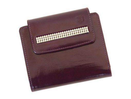 Giovani Woman Leather Wallet Swarovski Line Red-4387