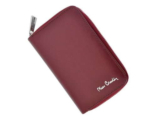 Pierre Cardin Women Leather Wallet with Zip Claret-5945