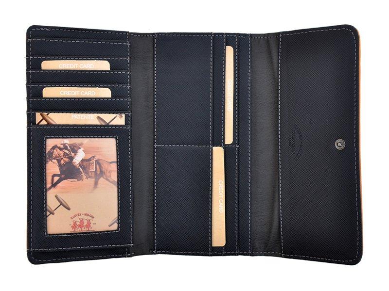 Harvey Miller Polo Club Women Leather Wallet Brwon-5339