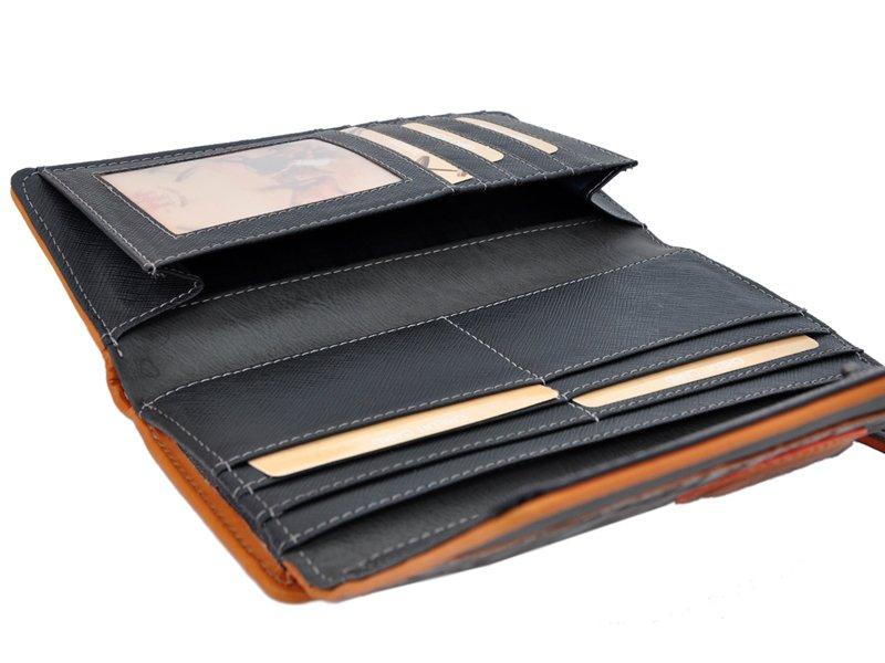 Harvey Miller Polo Club Women Leather Wallet Brwon-5331
