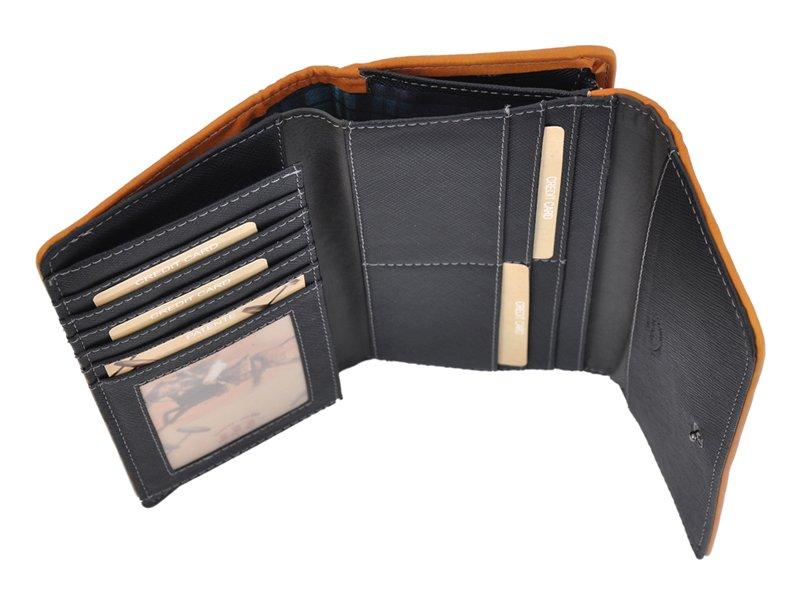 Harvey Miller Polo Club Women Leather Wallet Brwon-5329