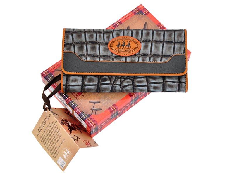 Harvey Miller Polo Club Women Leather Wallet Carmel-5319