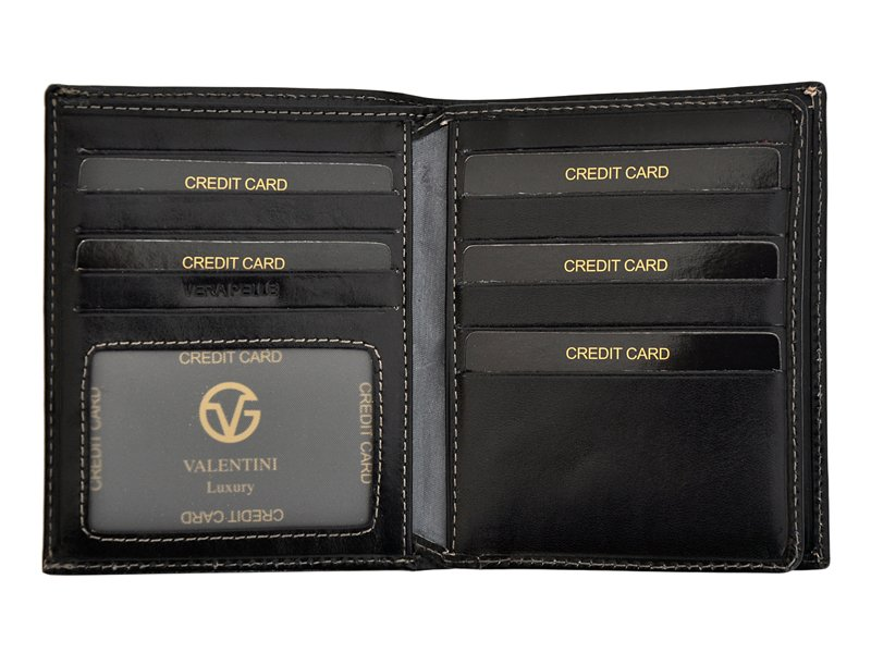 Leather Wallet Black Valentini Gino-4340