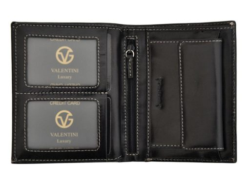 Leather Wallet Black Valentini Gino-4344