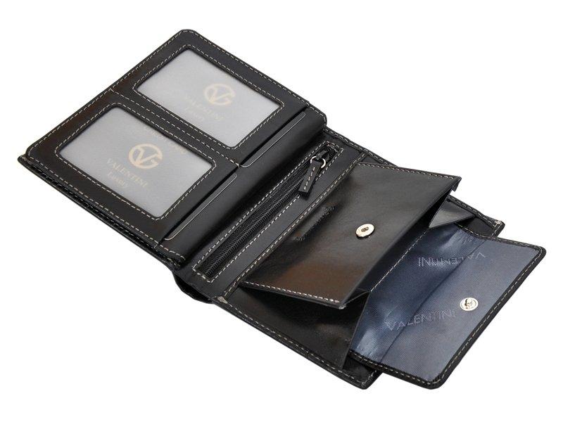 Leather Wallet Black Valentini Gino-4332