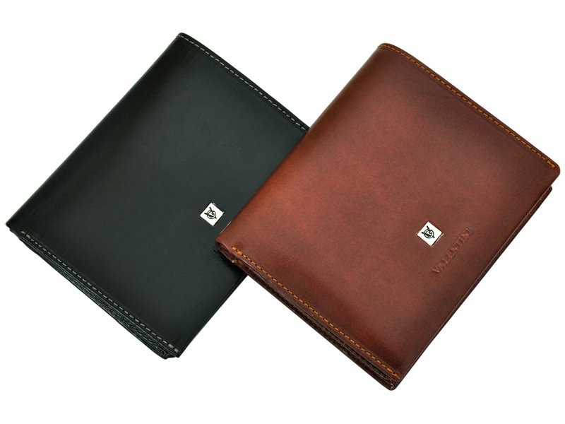 Leather Wallet Black Valentini Gino-4341