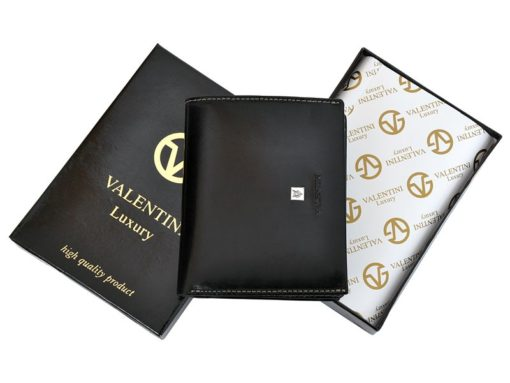 Leather Wallet Black Valentini Gino-4337