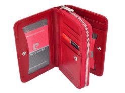 Pierre Cardin Women Leather Wallet with Zip Red-5971