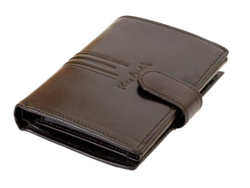 Pierre Cardin Man Leather Wallet Dark Brown-4923