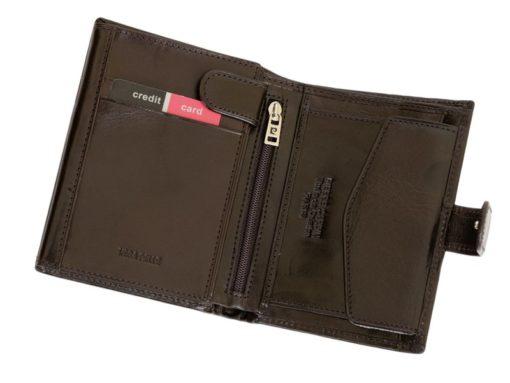 Pierre Cardin Man Leather Wallet Dark Brown-4913