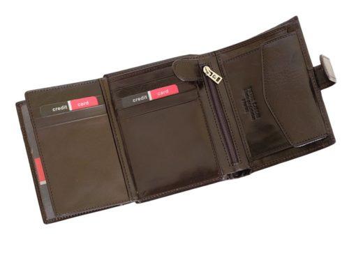 Pierre Cardin Man Leather Wallet Dark Brown-4924