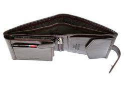 Pierre Cardin Man Leather Wallet Dark Brown-4922