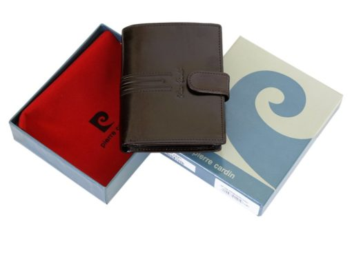 Pierre Cardin Man Leather Wallet Dark Brown-4917