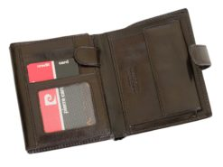 Pierre Cardin Man Leather Wallet Dark Brown-6724