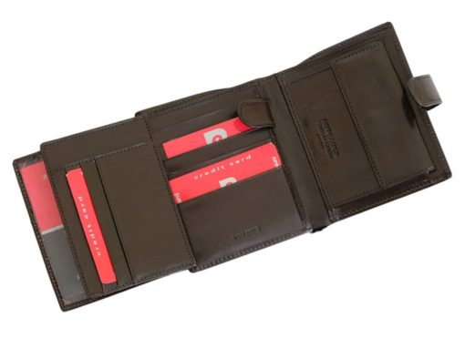 Pierre Cardin Man Leather Wallet Dark Brown-6725