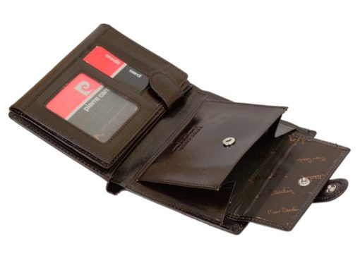 Pierre Cardin Man Leather Wallet Dark Brown-6722