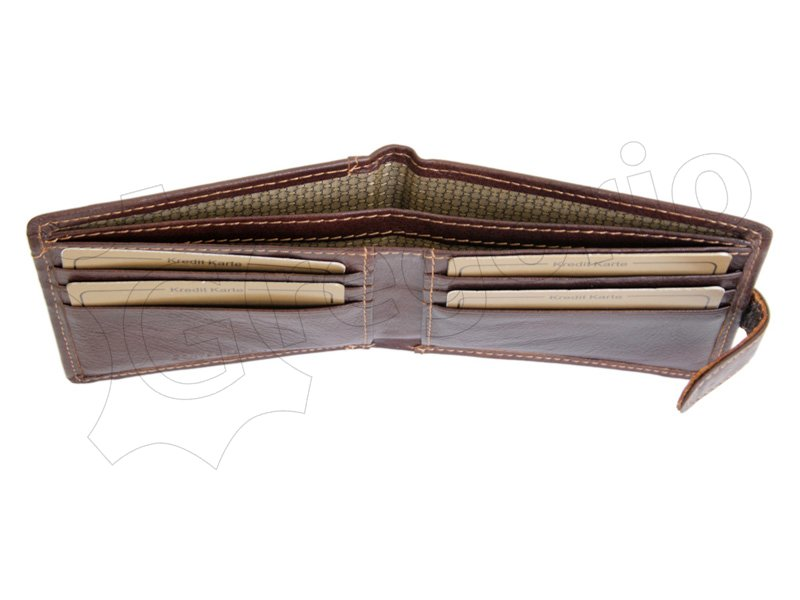 Wild Things Only Unique Leather Wallet Brown-4374