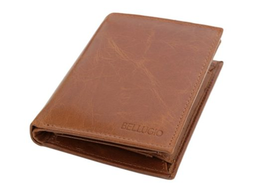 Bellugio Man Leather Wallet Dark Brown-6631