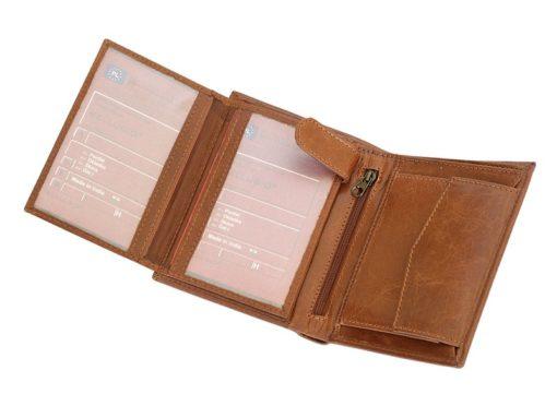 Bellugio Man Leather Wallet Dark Brown-6620