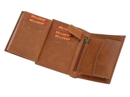Bellugio Man Leather Wallet Dark Brown-6629