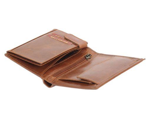 Bellugio Man Leather Wallet Dark Brown-6632