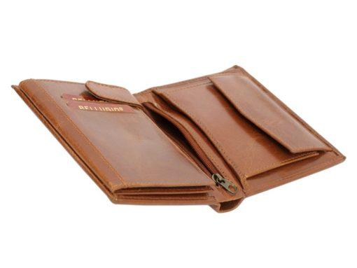 Bellugio Man Leather Wallet Dark Brown-6621