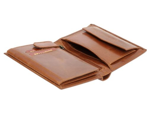 Bellugio Man Leather Wallet Dark Brown-6622