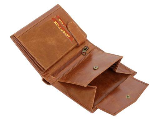 Bellugio Man Leather Wallet Dark Brown-6630