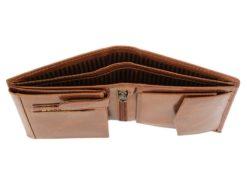 Bellugio Man Leather Wallet Dark Brown-6625