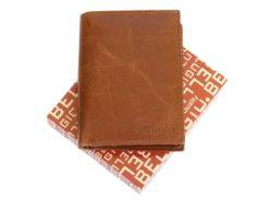 Bellugio Man Leather Wallet Dark Brown-6626