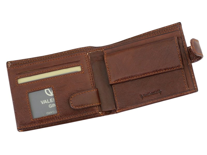 Leather Wallet Brown Valentini Gino-4323