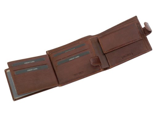 Leather Wallet Brown Valentini Gino-4321